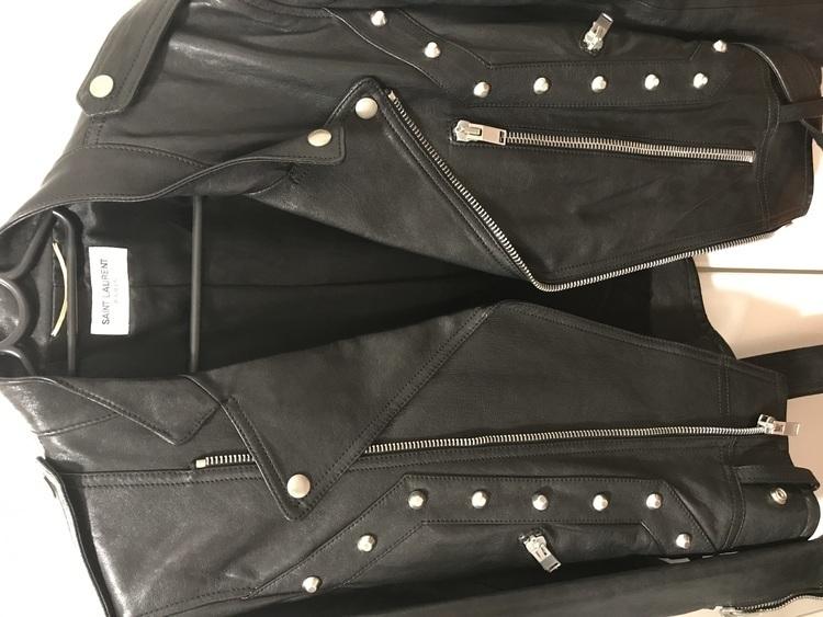 サンローラン 14aw スタッズライダースジャケットの商品画像