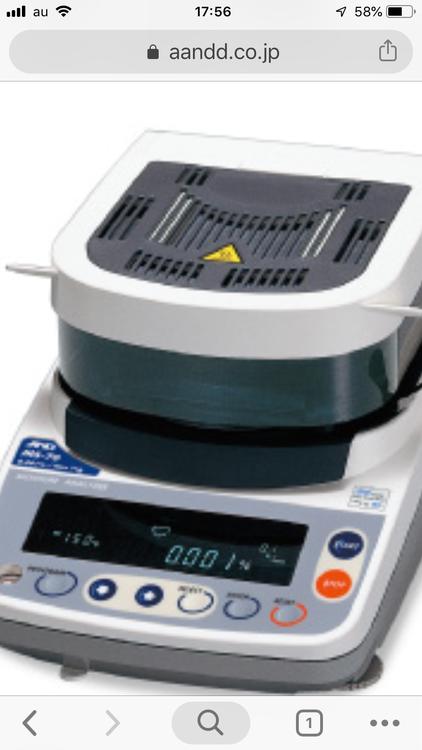 A/D 加熱乾燥式水分計の商品画像